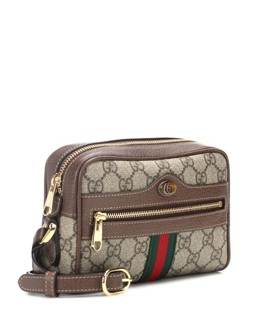 3ea91c5ab Gucci Brown Ophidia GG Supreme Small Belt Bag in Brown - Save 17% - Lyst