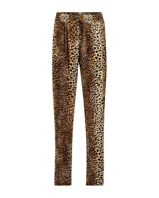 Pantaloni Jude a stampa leopardata di Melissa Odabash in Brown