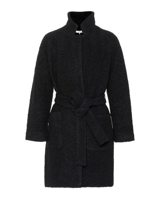 Ganni Black Fenn Wool-blend Coat