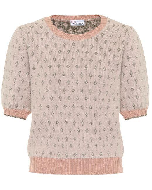 RED Valentino Pink Angora-blend Sweater