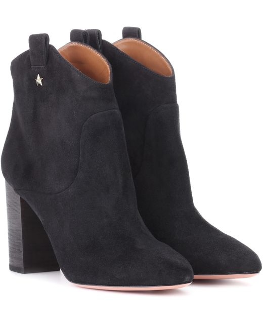 Aquazzura - Black Suede Ankle Boots - Lyst