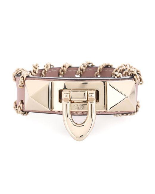 Valentino - Pink Demilune Bracelet - Lyst