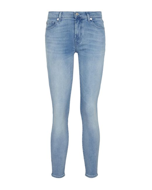 Jeans The Skinny Crop di 7 For All Mankind in Blue