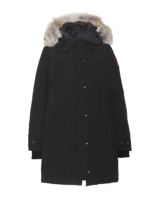 Canada Goose - Black Shelburne Fur-trimmed Down Coat - Lyst