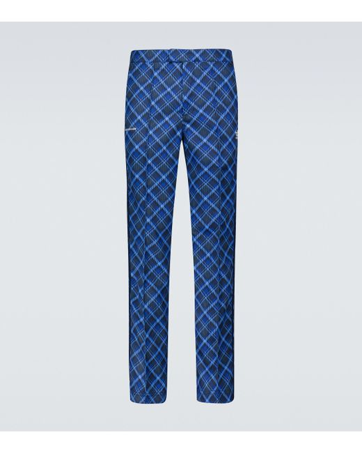 Adidas Blue X Wales Bonner Tartan Pants for men