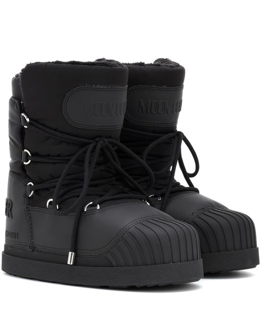 on feet at sports shoes online for sale Moncler X Moon Boot® Stiefel Uranus in Schwarz - Lyst