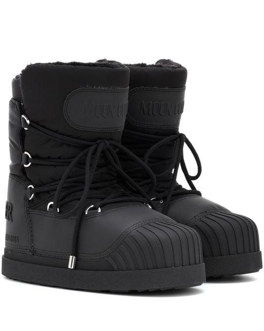 Moncler - Black X Moon Boot® Uranus Ankle Boots - Lyst