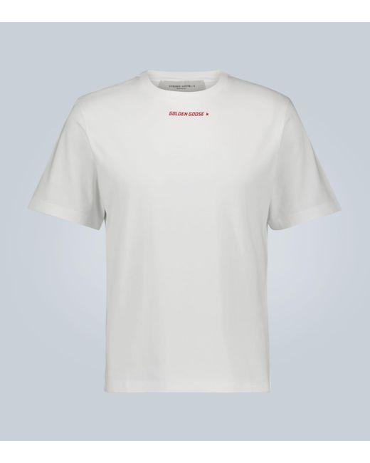 Golden Goose Deluxe Brand T-Shirt mit Logo-Print in White für Herren
