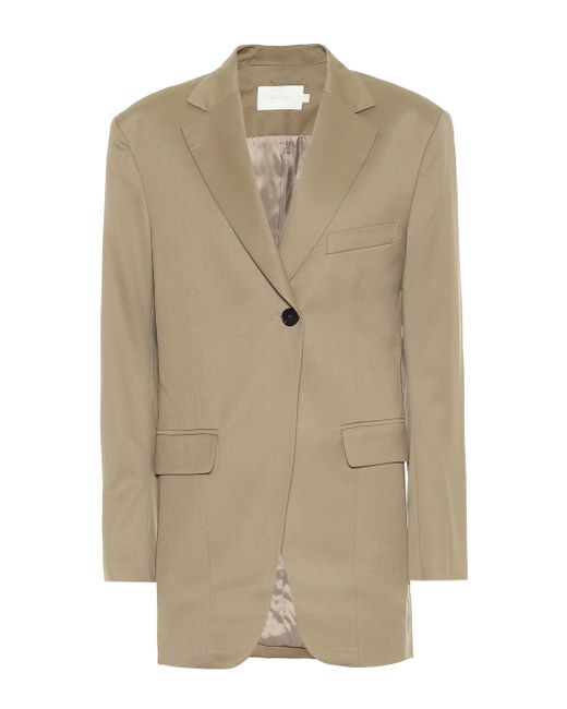 Low Classic Natural Blazer aus Wolle