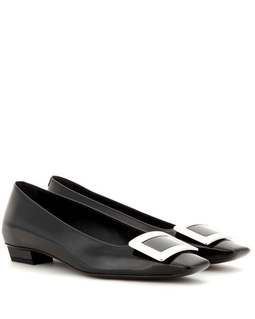 Roger Vivier - Black Belle Vivier Patent Leather Ballerinas - Lyst