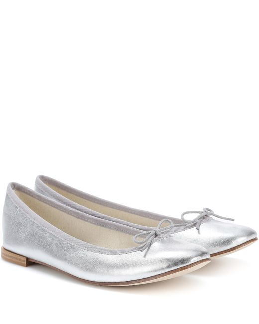 Repetto - Metallic Cendrillon Silver Leather Ballerinas - Lyst