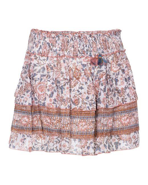 Poupette Pink Floral Cotton Miniskirt