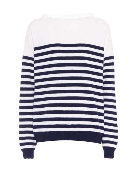 MiH Jeans - Blue Striped Merino Wool Sweater - Lyst
