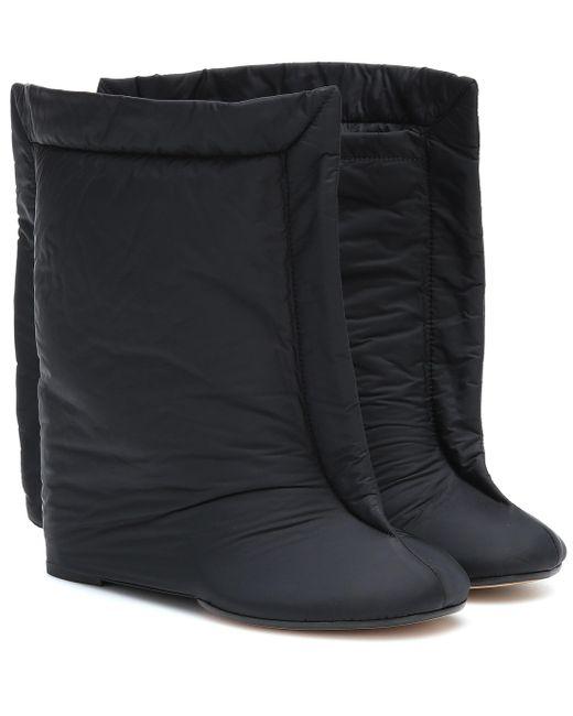 MM6 by Maison Martin Margiela Black Nylon Ankle Boots