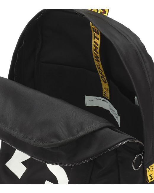 Mochila Arrow Easy de nylon Off-White c/o Virgil Abloh de color Black