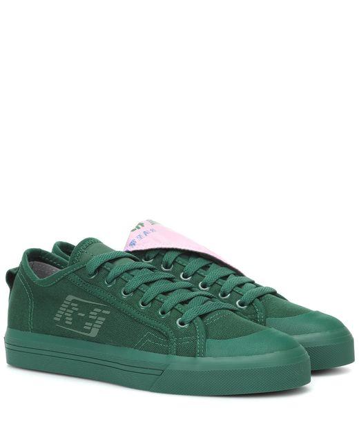 Adidas By Raf Simons Metallic Spirit Low Canvas Sneakers