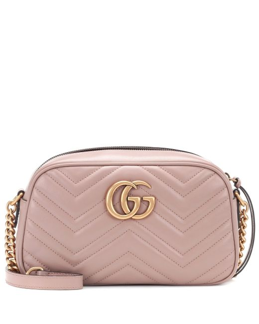 Gucci Pink GG Marmont Small Shoulder Bag