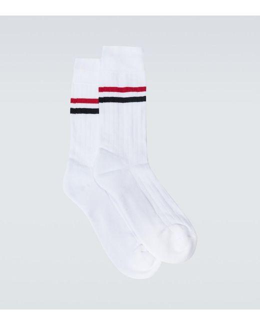 Calzini sportivi con logo di Thom Browne in White da Uomo