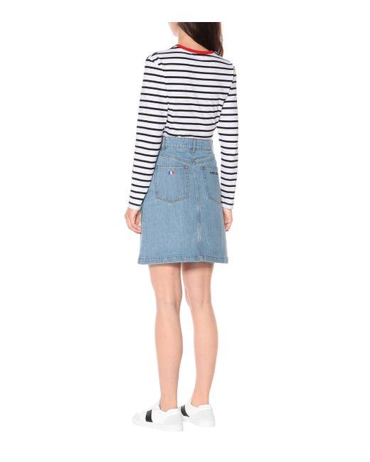 Jupe en jean à taille haute Être Cécile en coloris Blue
