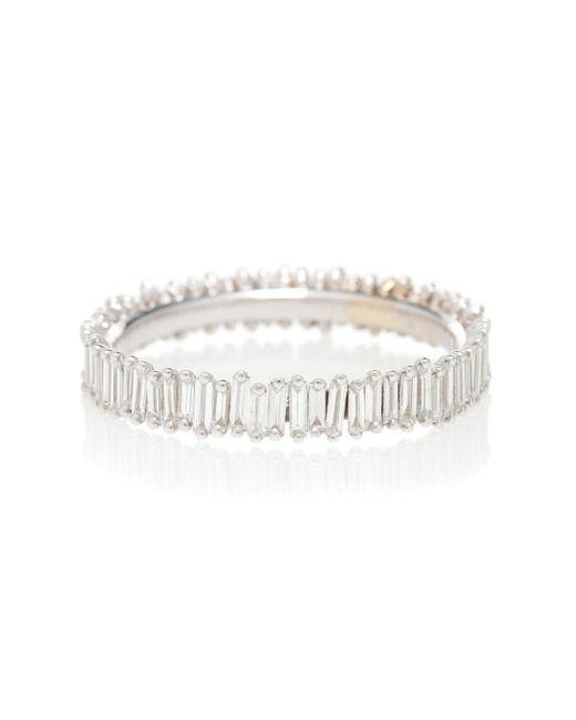 Suzanne Kalan Metallic Ring Eternity aus 18kt Weißgold mit Diamanten
