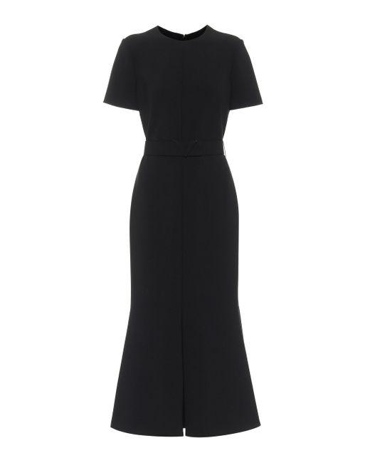 Valentino Black Crêpe Midi Dress