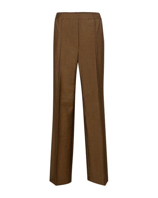 Pantaloni sportivi in lana e mohair di Acne in Brown