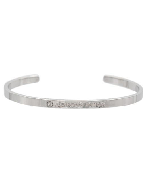 MM6 by Maison Martin Margiela Metallic Logo-engraved Cuff Bracelet
