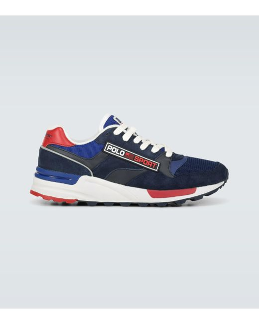 Polo Ralph Lauren Blue Polo Sport Trackmaster Sneakers for men