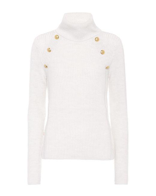 Veronica Beard - White Merino Wool Sweater - Lyst