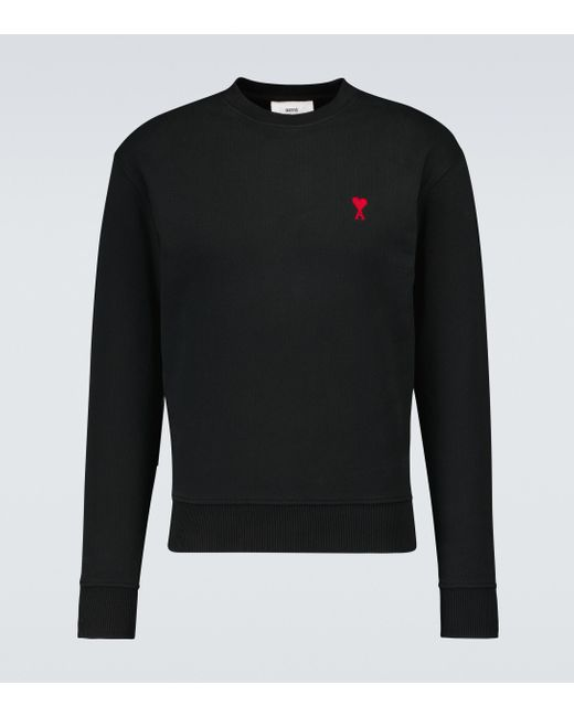 AMI Black Ami De Coeur Cotton Sweatshirt for men