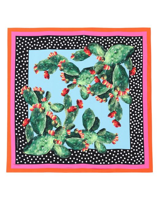 Dolce & Gabbana - Green Exclusive To Mytheresa. Com – Printed Silk Scarf - Lyst