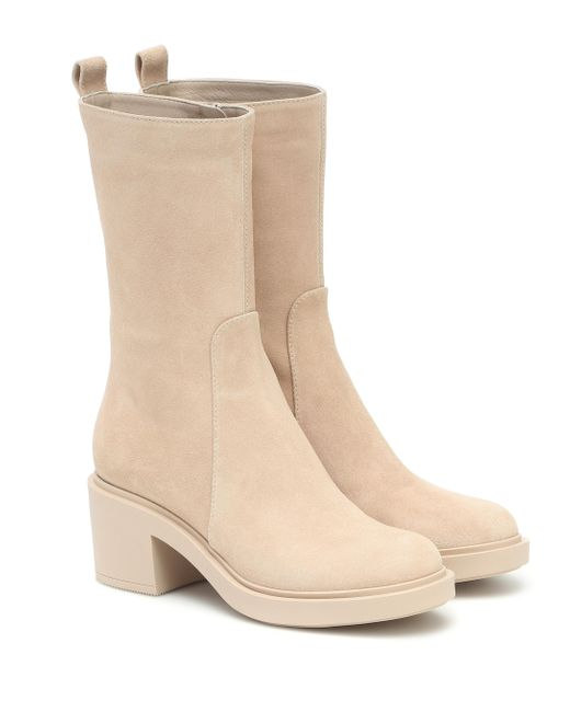 Gianvito Rossi Natural Ankle Boots Margaux