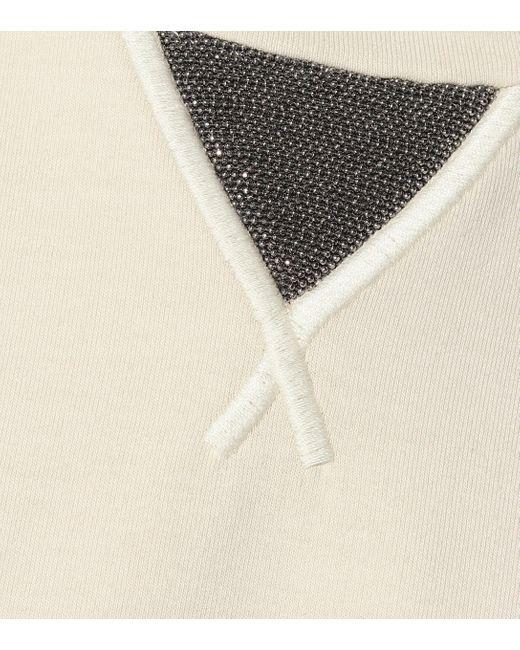 Brunello Cucinelli Natural Minikleid aus Baumwolle