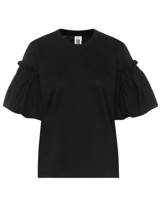 Noir Kei Ninomiya Black T-Shirt aus Baumwoll-Jersey