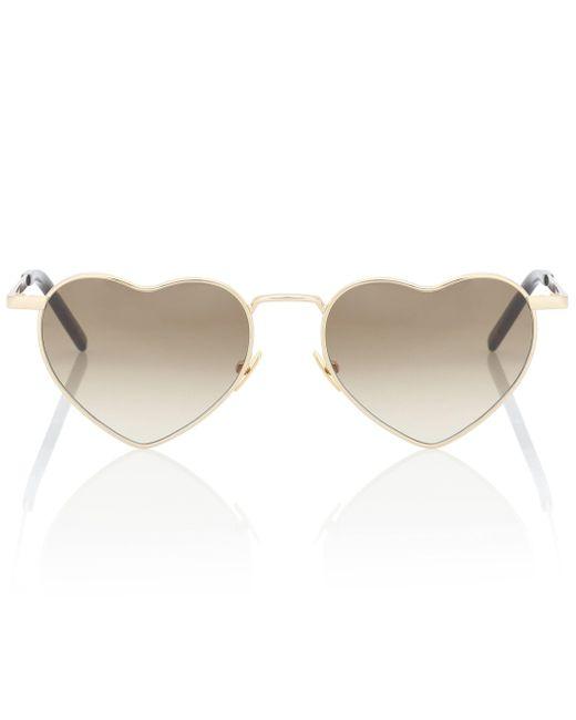 Saint Laurent Metallic Heart Sunglasses