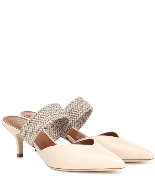 Malone Souliers Natural Maisie 45 Leather Mules