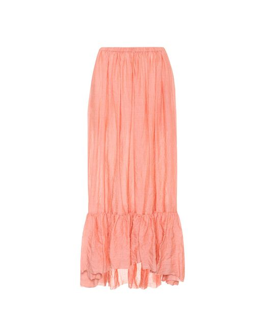 Lisa Marie Fernandez - Pink Nicole Cotton-blend Skirt - Lyst