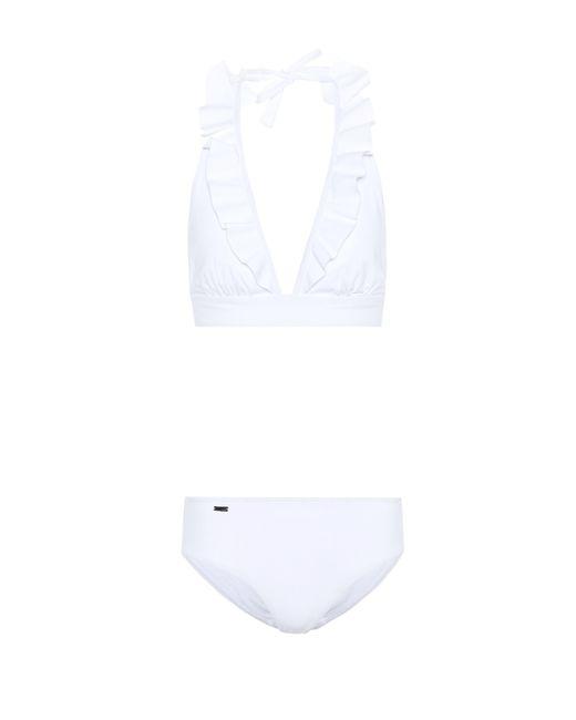 Fendi White Ruffled Bikini