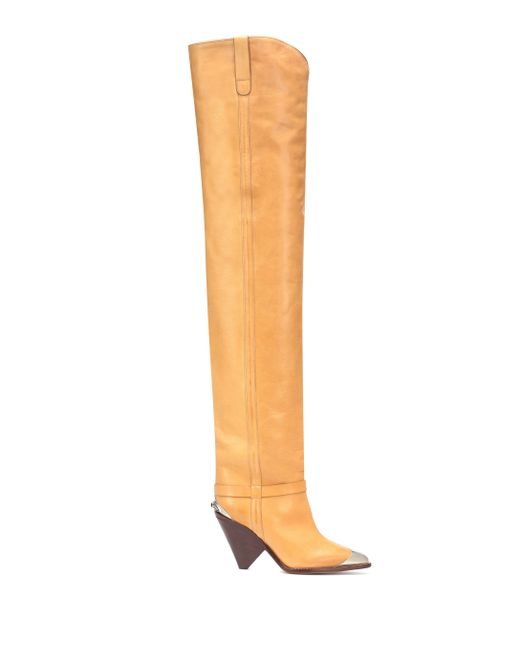 b71ee9bf6a3 ... Isabel Marant - Natural Lafsten Over-the-knee Boots - Lyst ...