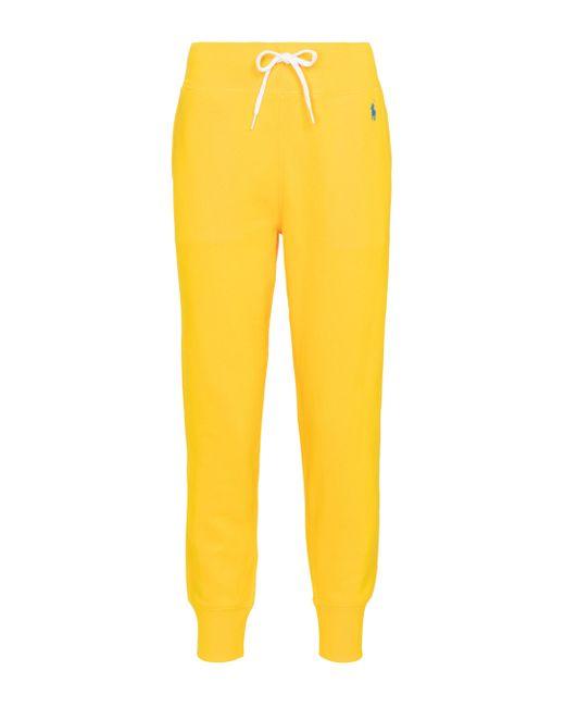 Polo Ralph Lauren Yellow Jogginghose aus Jersey