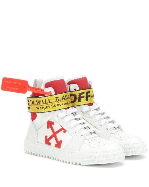Off-White c/o Virgil Abloh White Exclusive To Mytheresa – Industrial Leather Sneakers