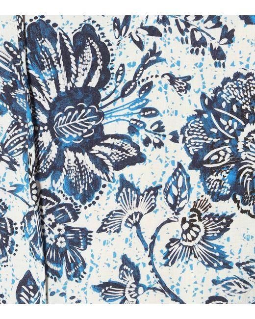 Blusa Mirasol a stampa in crêpe di Velvet in Blue