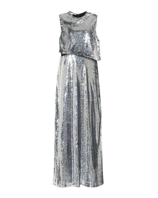 Robe longue à sequins Stella McCartney en coloris Metallic