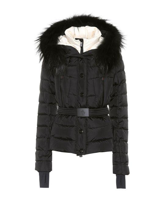 new concept e8259 4417b Women's Black Beverley Fur-trimmed Ski Jacket