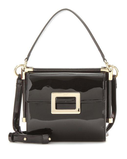 Roger Vivier - Black Miss Viv' Carre' Mini Patent Leather Shoulder Bag - Lyst
