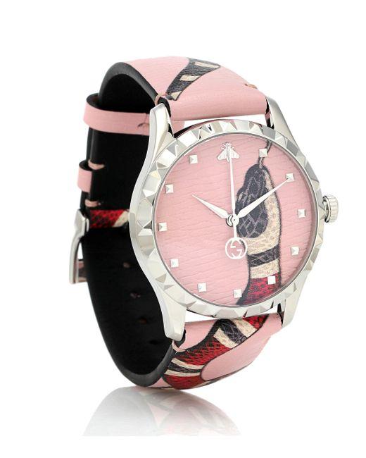 Gucci Pink Le Marché Des Merveilles Watch