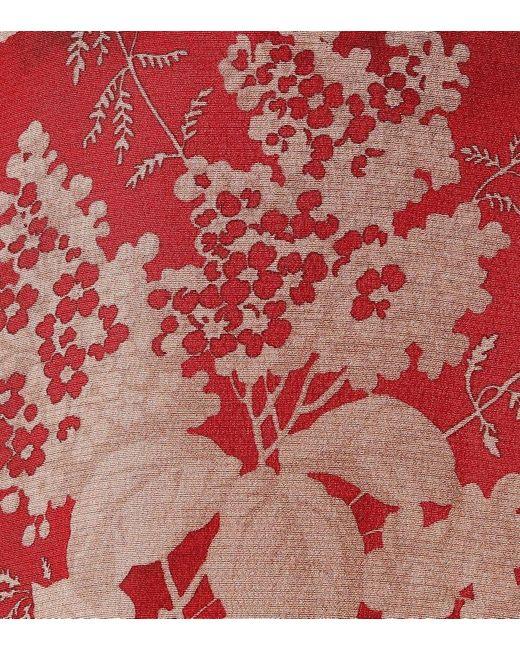 Miniabito a stampa in seta di RED Valentino in Red