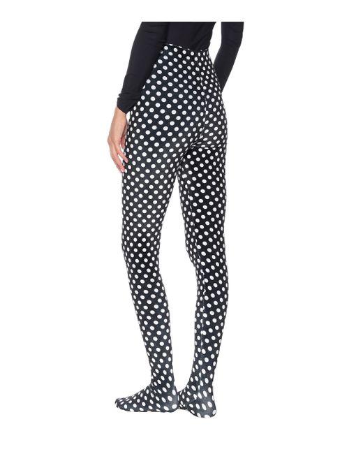 Richard Quinn Black Strumpfhose mit Polka-Dots