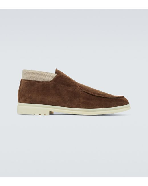 Loro Piana Brown Open Wintery Walk Ankle Boots for men