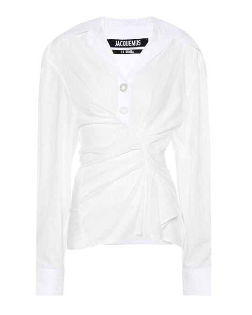 Jacquemus - White Le Chemise Maceio Cotton Shirt - Lyst